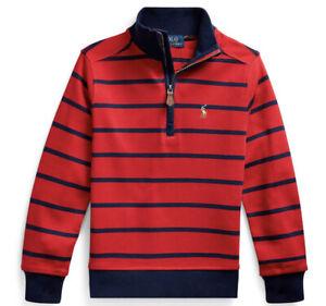 NWT New Ralph Lauren Polo Boys Red & Blue Valentine Half Zip Pullover 7 $49.50