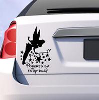 Tinkerbell powered by fairy dust car decal vinyl sticker window bumper JDM Girls