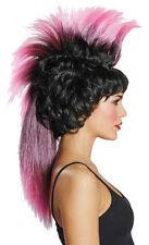 Irokesen Kult Perücke schwarz-pink NEU - Karneval Fasching Perücke Haare
