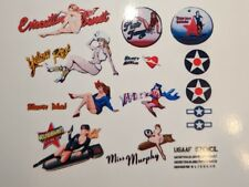 Pin-Up Nose Art Water-Slide Decals (Reproductions of Originals) Scale on Request