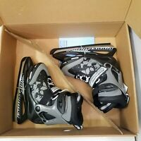 Bladerunner Micro Ice Adjustable Youth Boys Ice Skates Size 12J-2 21-23cm Black