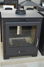 Wood Burning Double Sided  Stove Top Flue 11-18 kW 2 Glasses  Low Emissions