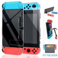 For Nintendo Switch Thin Case Cover Protective +Tempered Glass Screen Protector