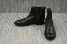 Frye Carly Zip Leather Chelsea Boots, Women's Size 8B, Black