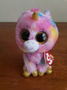 """TY BEANIE BOOS - FANTASIA the 6"""" UNICORN - MINT with MINT TAGS"""