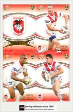 2007 Select NRL Invincible Trading Cards Base Team Set St. George (12)