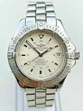 Breitling Stainless Steel Colt 38 mm White Dial Automatic Dive Watch A17350