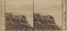A. Braun Lac Bourget Abbaye Hautecombe Vintage Stereo Albumine ca 1860