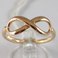 Ring aus Gold Pink 750 18K, Symbol Infinito, Made IN Italien