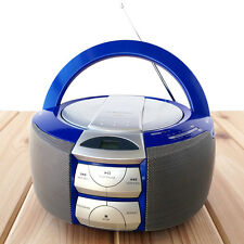Emerson Portable Boombox CD Player FM AM Radio Stereo Personal PD5202BL Blue
