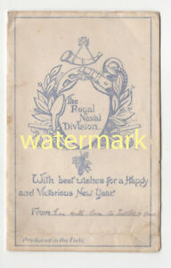 Royal Naval Division, Dardanelles, Greetings card, 'printed in the field', c1915