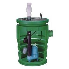 """Complete Sewage Pump Ejector System - 2"""" Out - 115V, 1 Ph, 12 A, 1/2 HP, 110 GPM"""