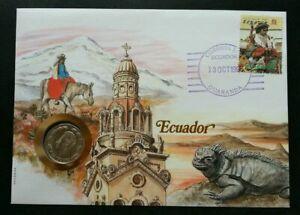 [SJ] Ecuador Daily Life 1986 Chameleon Church FDC (coin cover)