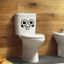 Removable Big Eyes Smile Expression Bathroom Toilet Seat Decal Wall Sticker Deco