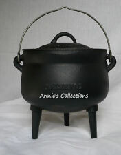 Cast iron Bean Pot 3 QT Cauldron Gypsy Pot Syrup Kettle Survival Sz 1 Potjie pot