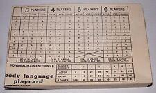 1975 Milton Bradley Body Language Game - Playcard