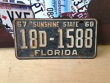 VINTAGE ORIGINAL 69 FLORIDA LICENSE PLATE NR