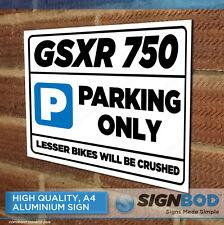 SUZUKI GSXR 750 Owner Parking Metal Sign Gift - Birthday Present