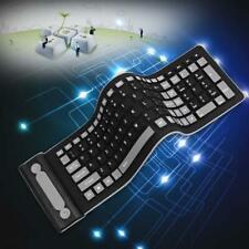 Wireless Waterproof Flexible Rollup Portable Folding Typing Silicone Keyboard AE