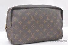 Auth Louis Vuitton Monogram Trousse Toilette 28 Clutch Hand Bag M47522 LV 38261