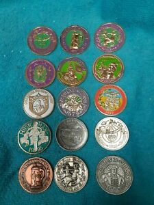 BABYLON LOT OF 15 BRONZE KNIGHTS OF NEW ORLEANS MARDI-GRAS DOUBLOONS LAN5443