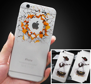 3D Vinyl Sticker Decal For iPhone 8 7 6 6S Skin Stickers Film Fast Post
