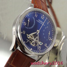 43mm Parnis blue dial date adjust Automatic movement Power Reserve Men's Watch