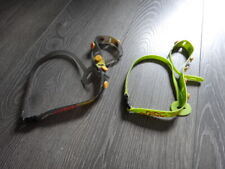 Lot 2 KIds baby NiNi TOY Bungee stroller holder pacifier lasso green grey EUC