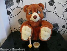 *** Emotion Pets Bruno l'ours brun Interactive Toy Pet & Honey Pot *** très bon état