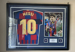 Messi Signed Barcelona 20th Year Special Edition Jersey Champions League (ICONS)