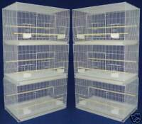 """Lot of 6 Aviary Canary Parakeet Budgie Finch Breeding Bird Cages 24x16x16""""H *83"""