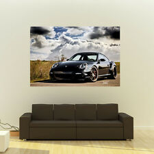 Poster of Porsche 911 997 TT on 360 Forged wheels Huge 54x36 Inch Print