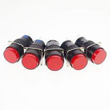 5 X Pulsador Switch Rojo 1Ningún 1nc 16 Mm Orificio momentáneo con 12v Luz Piloto Lámpara