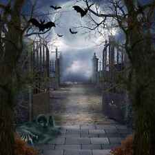 Halloween Night 10'x10' CP Backdrop Computer printed Scenic Background XLX-075