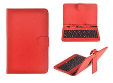 """Tasche mit Tastatur passend für 10 Zoll Tablet Galaxy Tab 10.1 Keyboard 10"""" Rot"""