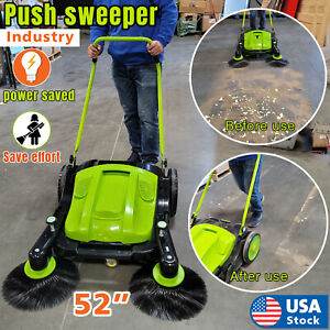Top-grade Triple Brush Push Power Sweeper for Ground Cleaning Push Type Newest