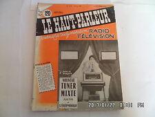 LE HAUT PARLEUR RADIO TELEVISION N°1016 15/06/1959 NOUVEAU TUNER MIXTE AM/FM H20