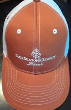 NEW Four Seasons Resort Lanai Hawaii Golf Hat Baseball Cap Orange Fitted  Sz. S  7abf18bdf596