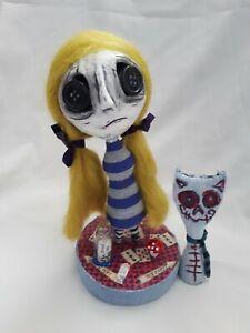 Alice In Wonderland handmade ooak Art Doll