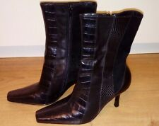 Lilley And Skinner Ladies Leather Ankle Boots Size 4