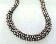 """* .925 STERLING SILVER HANDMADE IN BALI ANTIQUED 18"""" CHAIN 11MM THICK NECKLACE"""