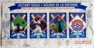 TORONTO BLUE JAYS ~ 1994 Victory Seals Stamp Sheet