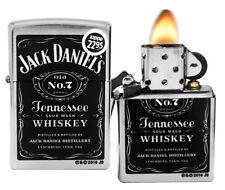Zippo Lighter 24779 Chrome Jack Daniel's Old No 7 Street Spirits NEW