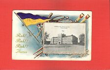 Huron,Beadle County,SD South Dakota,Voorhee's Hall Huron College,pennant 1908
