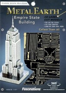 Empire State Building New York Kit In Metallo 3D Fascinations FAMMS010