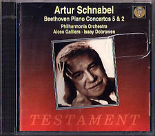 Artur SCHNABEL BEETHOVEN Piano Concerto No.2 5 Emperor GALLIERA CD Testament NEU