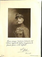 Portrait Général Ferdinand Foch Maréchal de France Uniforme A WWI ILLUSTRATION