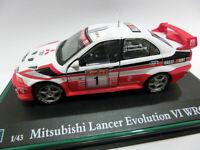 Mitsubishi Lancer Evolution VI WRC escala 1/43 Cararama