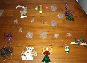 Christmas Ornaments Mixed Lot Tree Decorations Hanging glass Harts