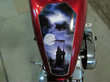 Tank Decal  Coffin / Grim Reaper - for Harley Sportster & all motorcycles bobber